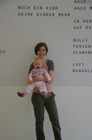 Anja Ciupka mit Kind