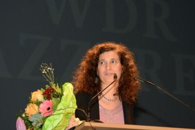 Annette Maye, Verleihung des Künstlerinnenpreises NRW am 29.1.2016 im Theater Münster, Foto: Lutz Voigtländer