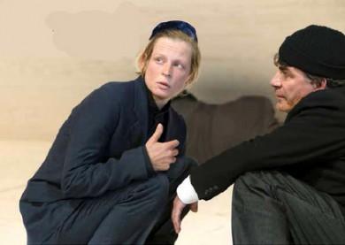 HIOB Bochum Jana Schulz als Menuchim Mendel Michael Schütz