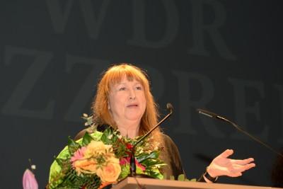 Sidsel Endresen, Verleihung d. Künstlerinnenpreises  NRW am 29.1.2016 im Theater Münster, Foto: Lutz Voigtländer